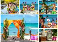 Яркая, необычная, харизматичная тропическая свадьба Андрея и Марии маленьком уютном пляже Колибри.
