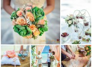 Нежная персиковая свадьба Юли и Игоря
