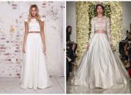 Раздельное свадебное платье – тренд 2015 года
