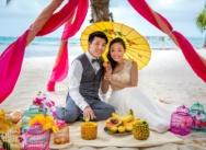 Свадьба в Доминикане в тропическом стиле {Агнесс и Джеймс}