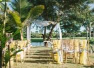 Свадьба на частной вилле Lake View в Доминикане {Нкече и Чеванес}