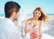 Нежная свадьба в розово-белом цвете на пляже Хуанийо {Кармен и Алессандро}