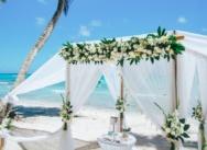 Белоснежная официальная свадьба на острове Саона {Алексей и Марина}